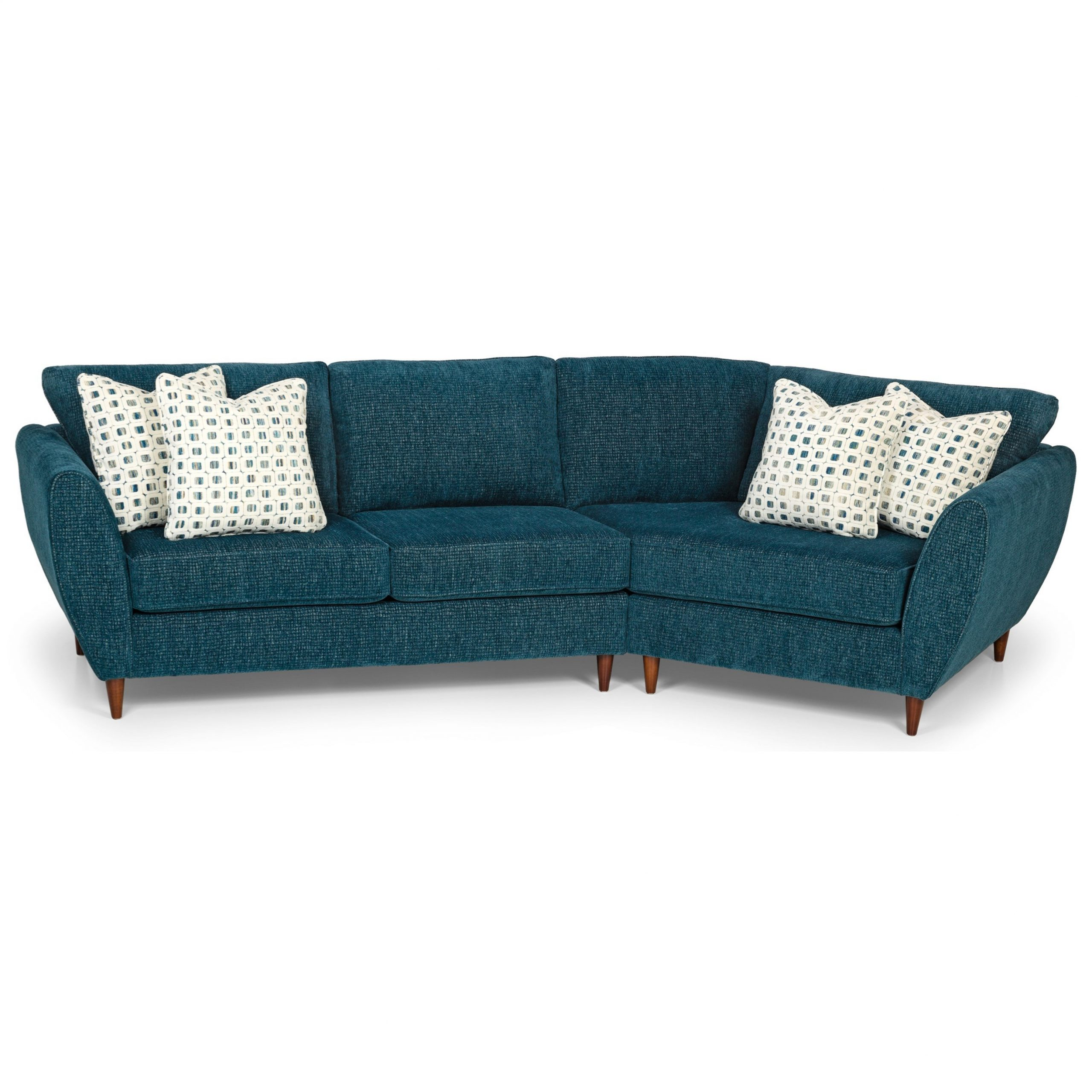 Florence Mid Century Modern Left Sectional Sofas Inside 2019 Stanton 473 Mid Century Modern 2 Piece Sectional Sofa With (View 2 of 20)