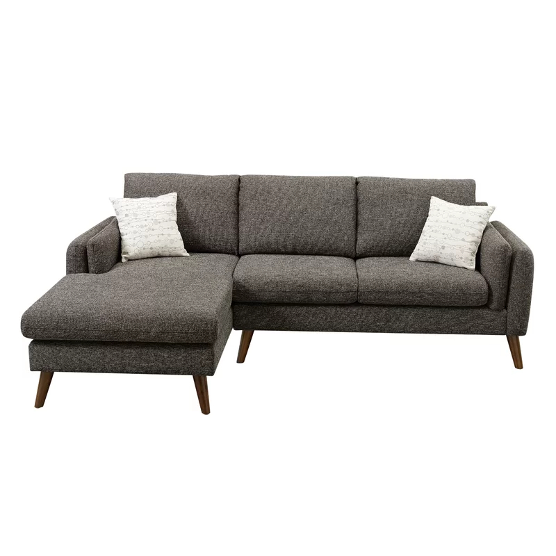 """Florence Mid Century Modern Right Sectional Sofas Regarding Recent Bicknell 93"""" Right Hand Facing Sectional In  (View 13 of 20)"""
