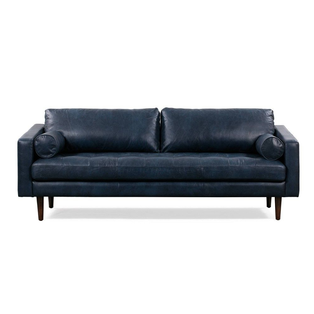Florence Mid Century Modern Sofa Midnight Blue – Poly For Famous Florence Mid Century Modern Right Sectional Sofas (View 17 of 20)