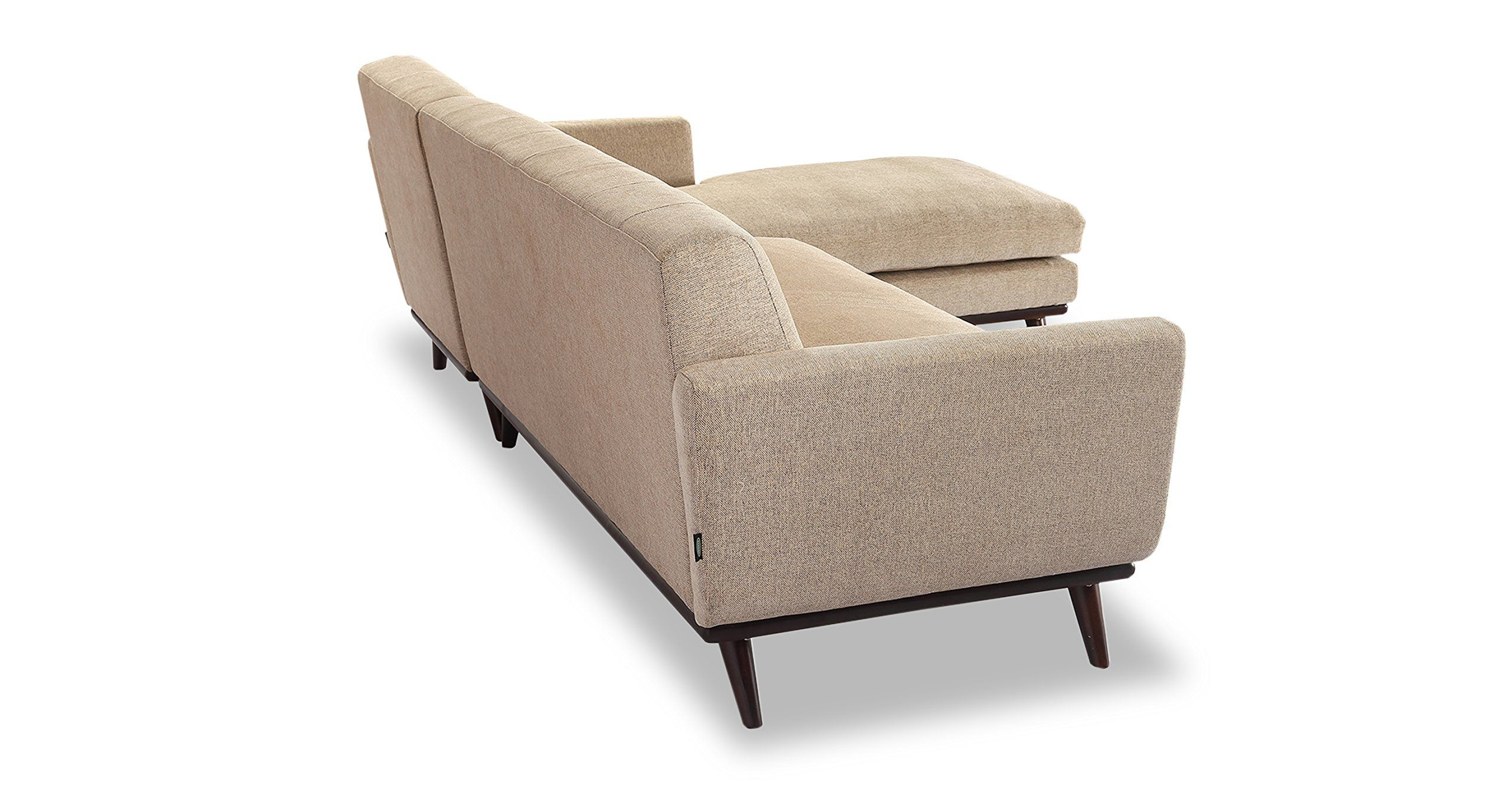 Florence Mid Century Modern Velvet Left Sectional Sofas Throughout Newest Kardiel Jackie Midcentury Modern Sectional Sofa Left (View 14 of 20)