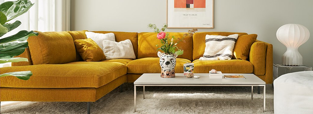 French Seamed Sectional Sofas Oblong Mustard Intended For Well Known Freud Sofaadventures In Furniture (View 9 of 20)