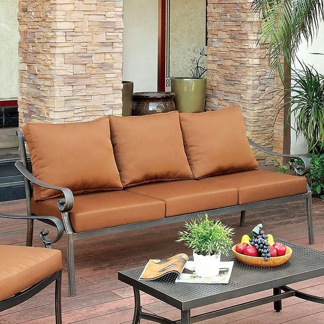 Furniture Of America Bonquesha 4pc Outdoor Furniture Set With Preferred 4pc Beckett Contemporary Sectional Sofas And Ottoman Sets (View 11 of 20)