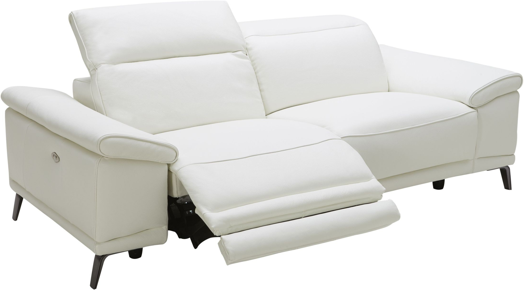 Gaia White Leather Power Reclining Sofa, 18253 S, J&m Inside Most Recently Released Power Reclining Sofas (View 10 of 20)