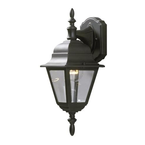Galaxy Lighting 16 In H Black Medium Base (e 26) Outdoor Intended For Current Feuerstein Black 16'' H Outdoor Wall Lanterns (View 4 of 20)