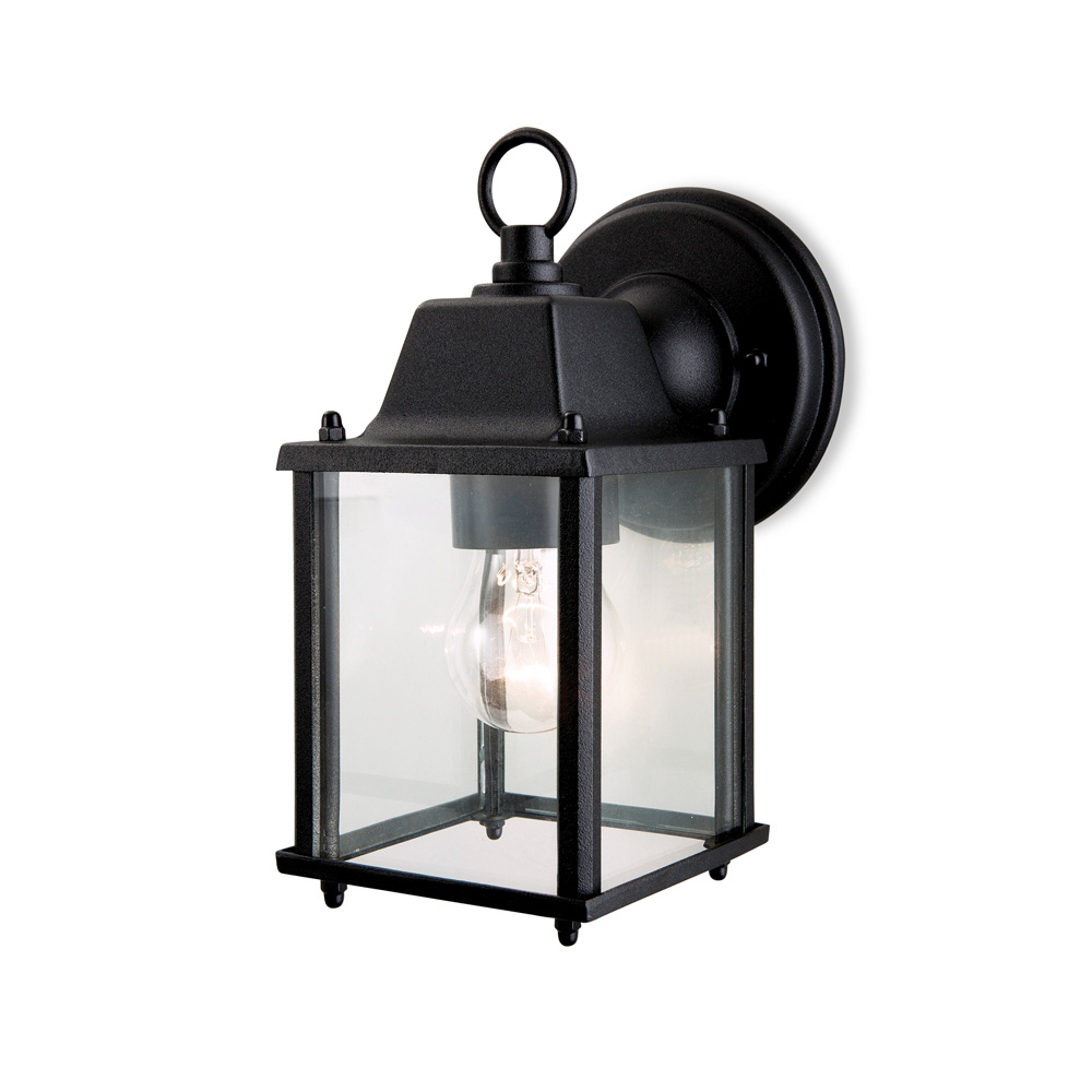 Garneau Black Wall Lanterns Intended For Well Known Firstlight 8666bk Coach 1 Light Black Outdoor Wall Lantern (View 16 of 20)