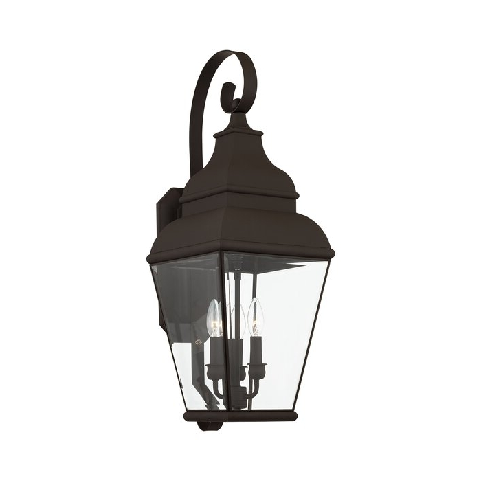 Featured Photo of Gillian 3   Bulb Beveled Glass Outdoor Wall Lanterns