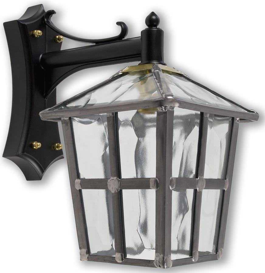 Gillian Beveled Glass Outdoor Wall Lanterns Inside Preferred York Handmade Clear Rippled Leaded Glass Outdoor Wall Lantern (View 5 of 20)