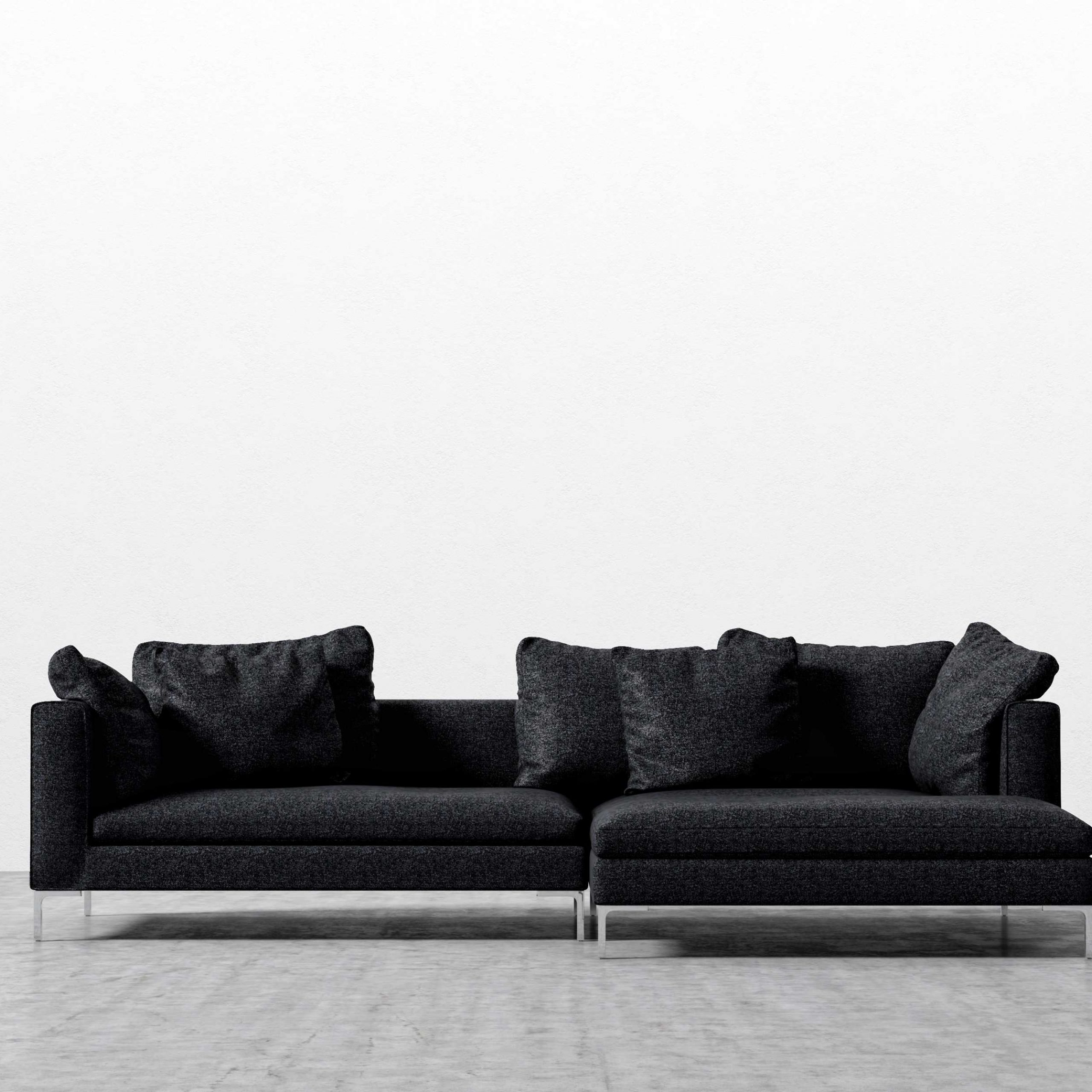 Gneiss Modern Linen Sectional Sofas Slate Gray Within 2018 Hugo Sofa Sectional (View 15 of 20)