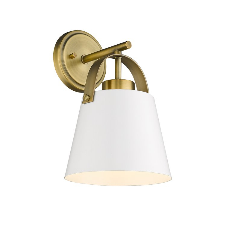 Gold Flamingo Elizabella 1 – Light Dimmable Armed Sconce Regarding Most Up To Date Felsted Matte Black 2 – Bulb Outdoor Armed Sconces (View 3 of 20)