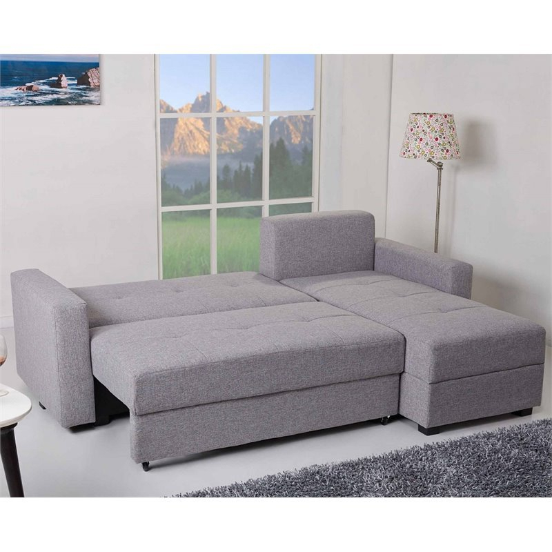 Gold Sparrow Aspen Convertible Sectional Storage Sofa Bed Intended For Widely Used Live It Cozy Sectional Sofa Beds With Storage (View 16 of 20)