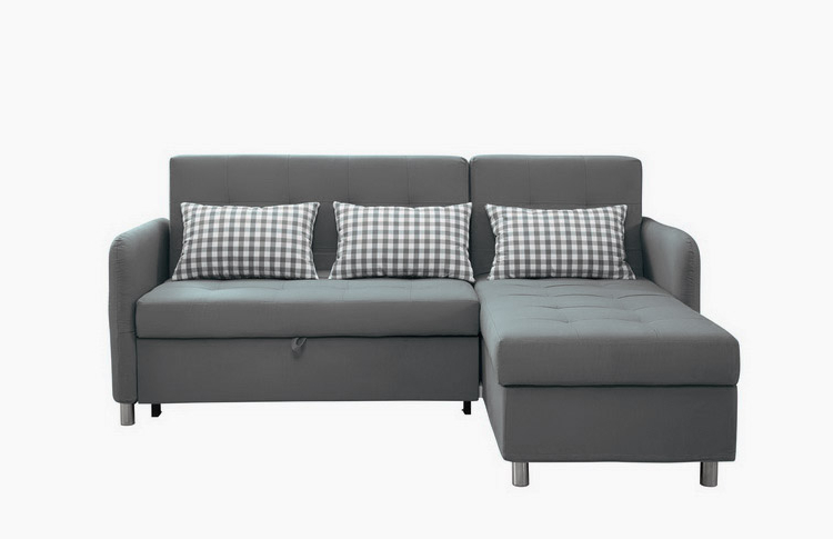 Good Quality Sectional Corner L Shape Sofa Cum Bed With Intended For Preferred Prato Storage Sectional Futon Sofas (View 15 of 20)