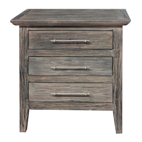 Gracie Chocolate Sofas Regarding Current Gracie Oaks Aneres 3 – Drawer Solid Wood Nightstand In (View 8 of 20)