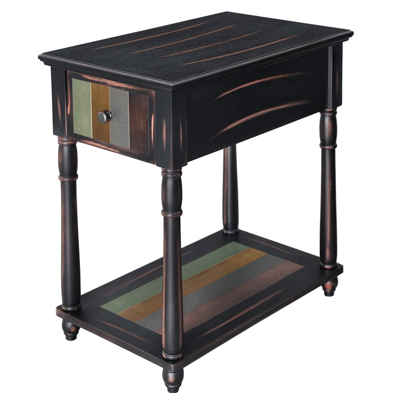 Gracie Chocolate Sofas Regarding Newest Gracie Oaks Narrow End Table With Drawer, 3 Tier (View 12 of 20)