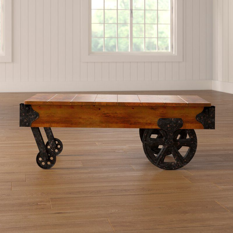 Gracie Oaks Hardrigg Cart Coffee Table & Reviews (View 2 of 20)