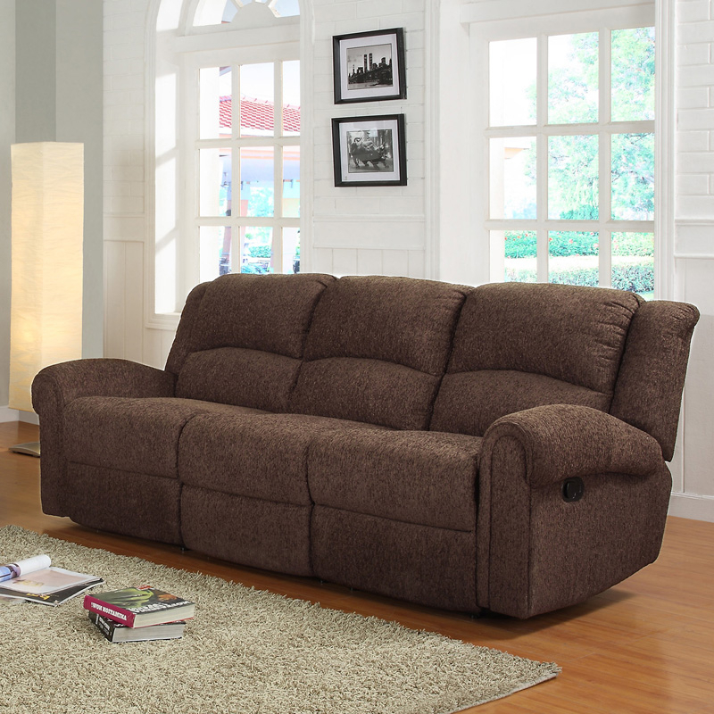 Grady Chenille Reclining Sofa – Brown – Sofas & Loveseats With Regard To Favorite Hugo Chenille Upholstered Storage Sectional Futon Sofas (View 7 of 20)