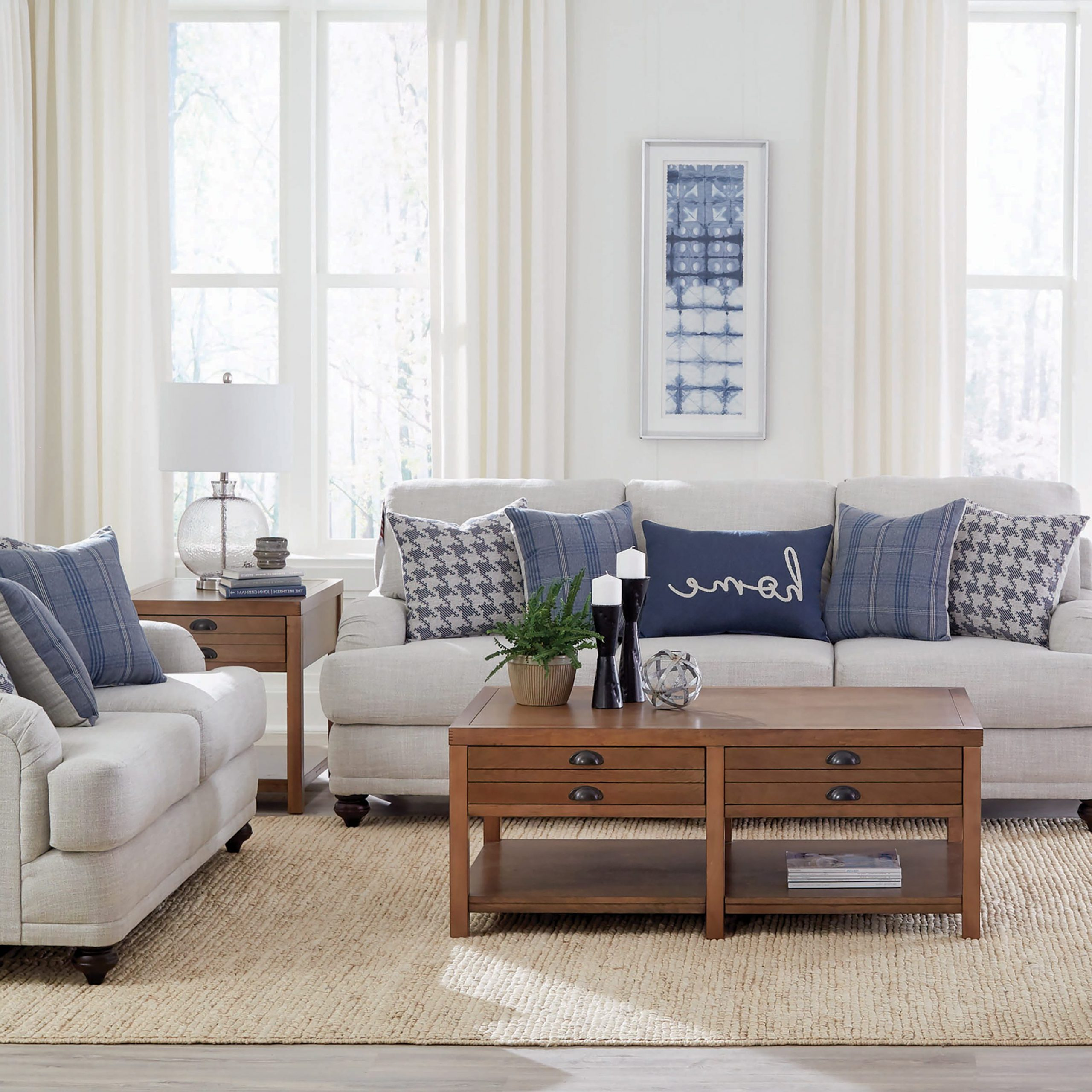 Gwen Recessed Arms Sofa Light Grey – Coaster Fine Furniture Regarding Latest Molnar Upholstered Sectional Sofas Blue/gray (View 2 of 20)