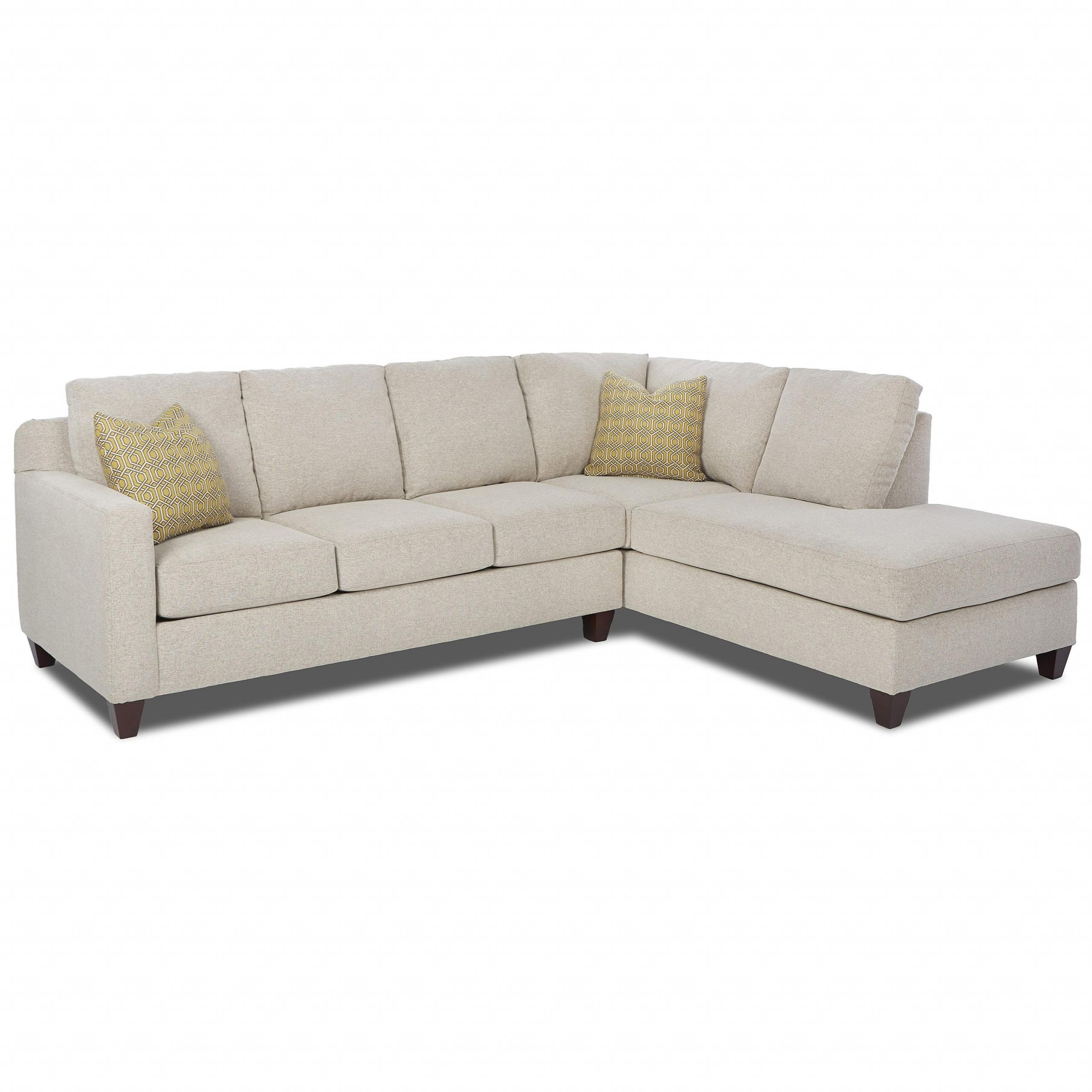 Hannah Left Sectional Sofas Inside Well Liked Klaussner Bosco Contemporary 2 Piece Sectional With Left (View 7 of 20)