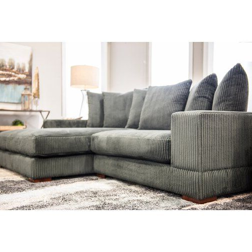 """Hannah Right Sectional Sofas In Widely Used Luxe 107"""" Wide Right Hand Facing Sofa & Chaise (View 9 of 20)"""