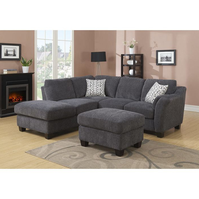 Hannah Right Sectional Sofas Throughout Favorite Alcott Hill Patterson Right Hand Facing Sectional (View 10 of 20)