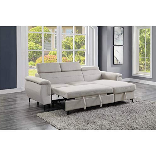 Harmon Roll Arm Sectional Sofas Inside Latest Lexicon Cadence Microfiber Reversible Sectional Sofa In (View 9 of 20)