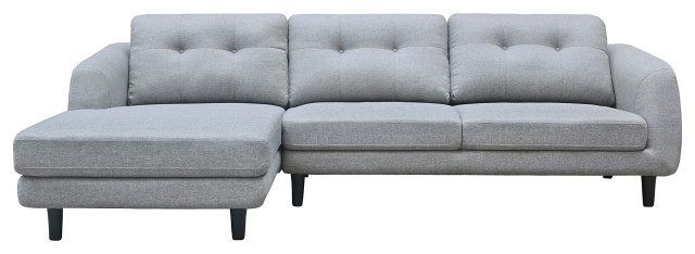 Hedgeapple Corey Sectional, Dark Gray For A Midcentury With Famous Element Right Side Chaise Sectional Sofas In Dark Gray Linen And Walnut Legs (View 20 of 20)
