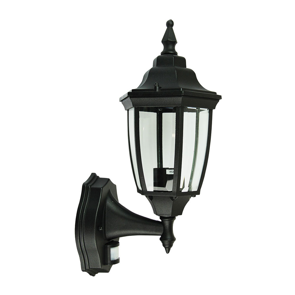 Highgate 1 Light Exterior Wall Light With Sensor Black With Most Recently Released Feuerstein Black 16'' H Outdoor Wall Lanterns (View 8 of 20)