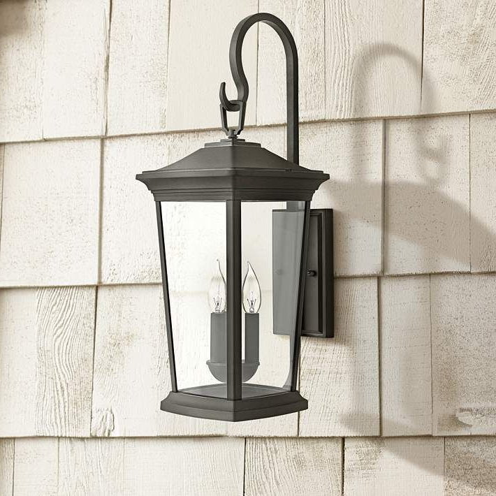 """Hinkley Bromley 24 3/4"""" High Museum Black Outdoor Wall Regarding Most Current Roden Black 3 Bulb Outdoor Wall Lanterns (View 8 of 20)"""