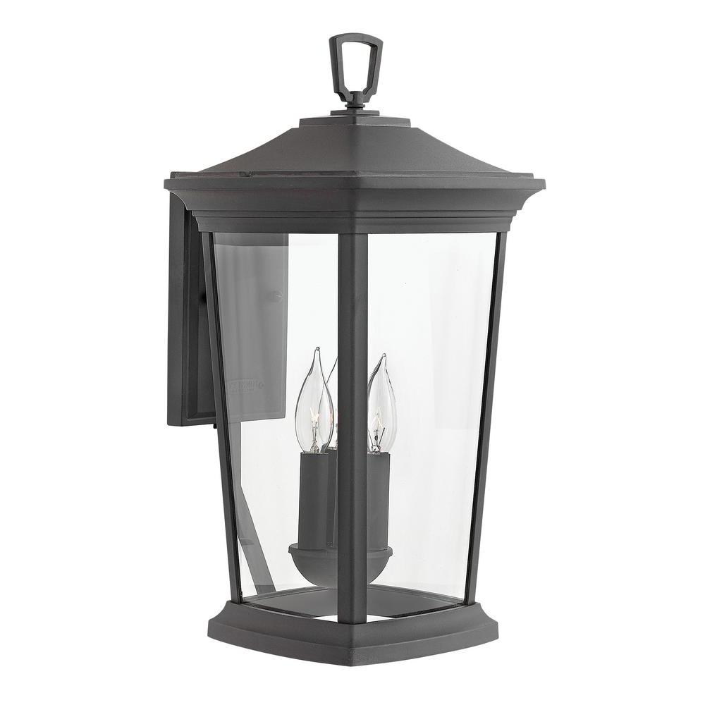Hinkley Lighting Bromley Large 3 Light Museum Black Within Well Known Roden Black 3 Bulb Outdoor Wall Lanterns (View 11 of 20)
