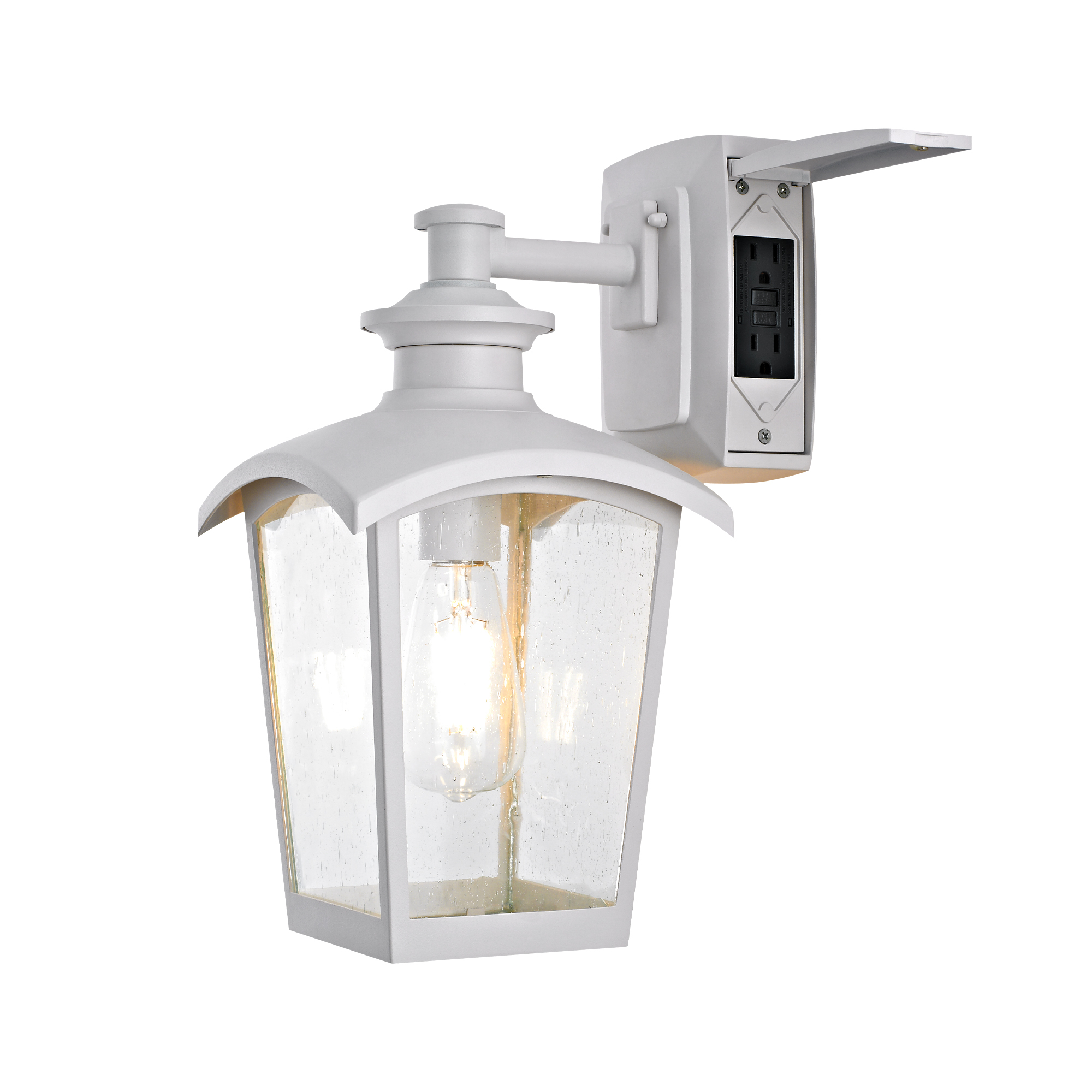 Home Luminaire Spence Collection 1 Light Outdoor Wall Intended For Preferred Payeur Hammered Glass Outdoor Wall Lanterns (View 4 of 20)