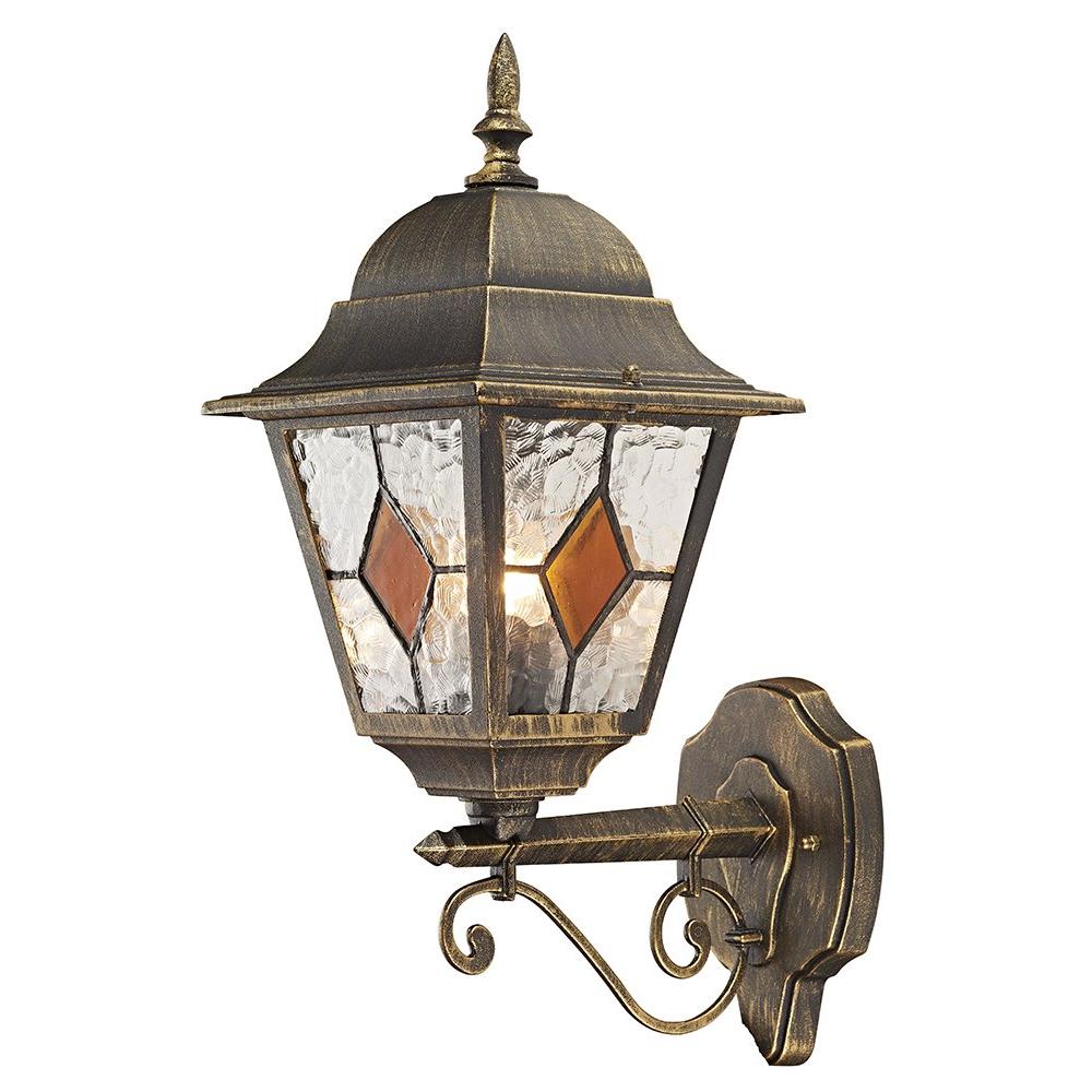 Https://haysoms/outdoor Lighting/blackgold Cast Regarding Trendy Powell Beveled Glass Outdoor Wall Lanterns (View 7 of 20)