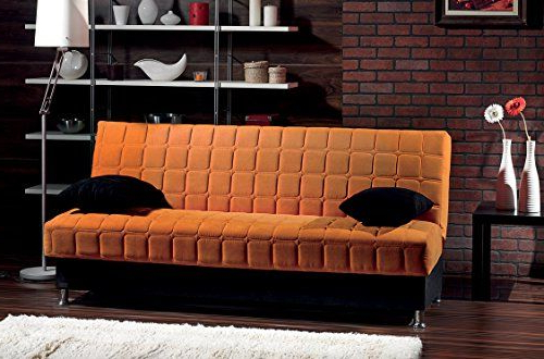Hugo Chenille Upholstered Storage Sectional Futon Sofas For Popular Beyan Rio Collection Upholstered Chenille Sofa Bed With (View 12 of 20)