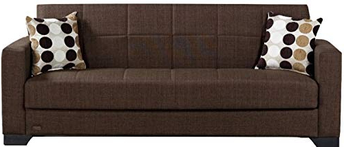Hugo Chenille Upholstered Storage Sectional Futon Sofas Pertaining To Widely Used Beyan Sb 2019 Brown Vermont Modern Chenille Fabric (View 16 of 20)