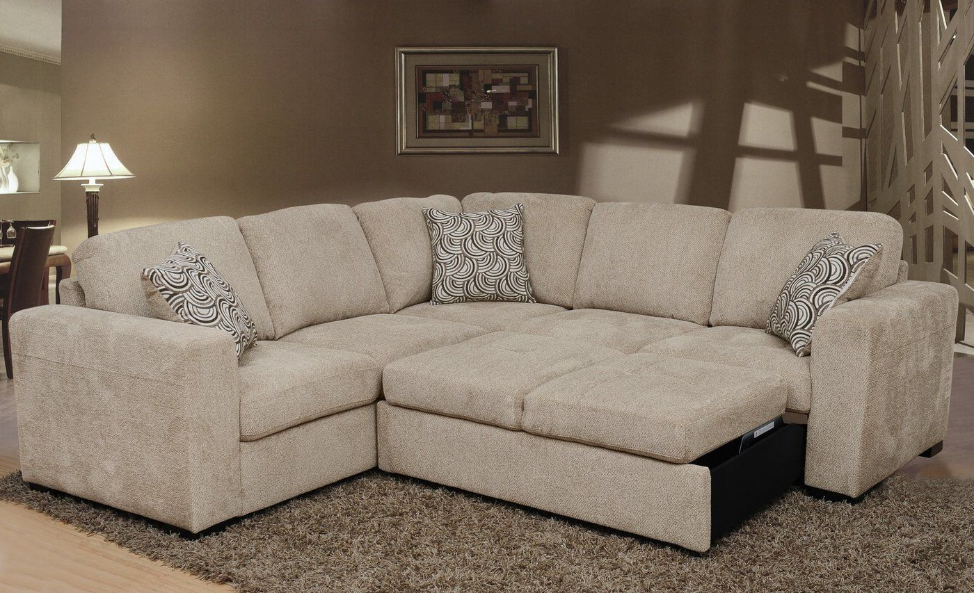 Hugo Chenille Upholstered Storage Sectional Futon Sofas Regarding Popular Izzy 2 Piece Chenille Sectional With Left Facing Sleeper (View 6 of 20)