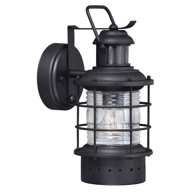 Hyannis Black Motion Sensor Dusk To Dawn Coastal Outdoor Within Current Manteno Black Outdoor Wall Lanterns With Dusk To Dawn (View 9 of 20)