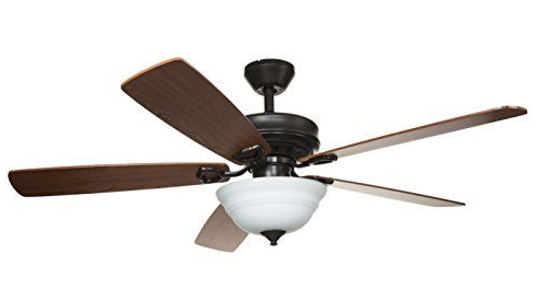 Hyperikon 52 Inch Ceiling Fan With Remote Control, Brown Pertaining To Widely Used Belleair Bluffs Outdoor Barn Lights (View 6 of 17)