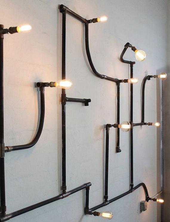 Iluminação Retro, Lâmpadas With Newest Cano Wall Lanterns (View 12 of 20)