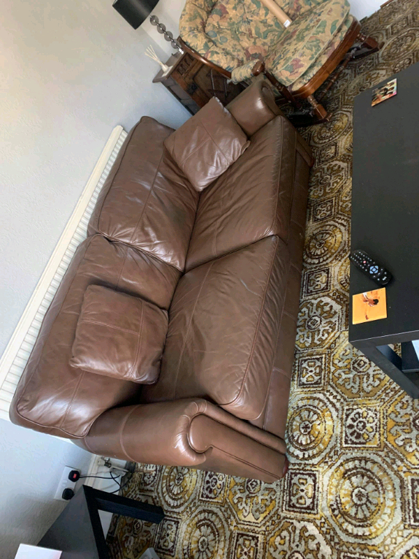In Darlington, County Within Bonded Leather All In One Sectional Sofas With Ottoman And 2 Pillows Brown (View 20 of 20)