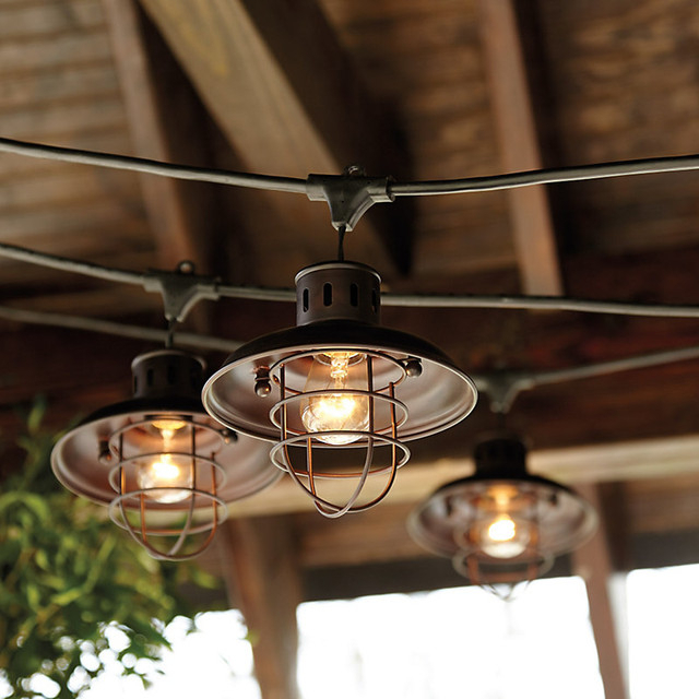 Industrial String Lights Outdoor – 10 Ways To Give A Intended For 2019 Journey Outdoor Wall Lanterns (View 4 of 20)
