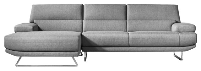 Jenn Sectional, Dark Gray – Contemporary – Sectional Sofas Inside Newest Element Right Side Chaise Sectional Sofas In Dark Gray Linen And Walnut Legs (View 17 of 20)