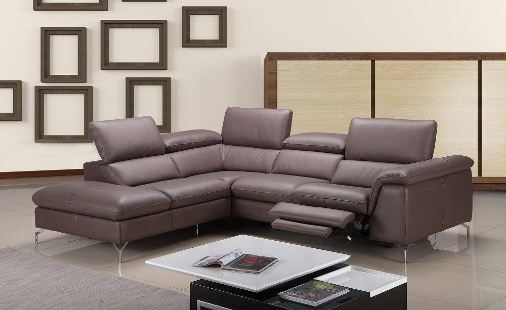 J&m Anastasia Modern Premium Brown Leather Sectional Sofa Throughout Well Known Hannah Right Sectional Sofas (View 3 of 20)