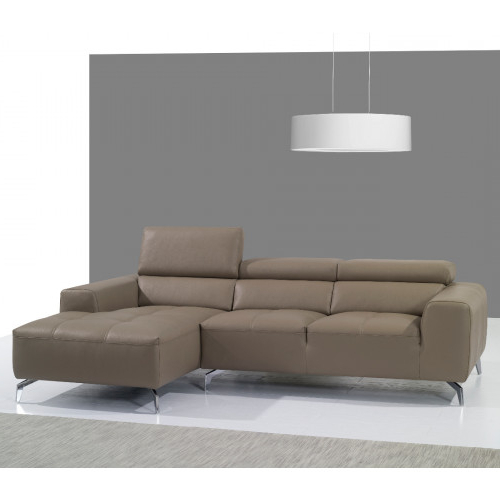 J&m Furniture 625 Italian Leather Sectional Pumpkin In Throughout Most Popular 2pc Maddox Right Arm Facing Sectional Sofas With Cuddler Brown (View 1 of 17)
