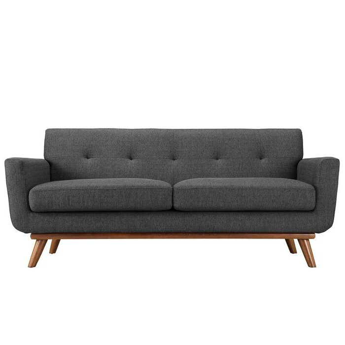 """Johnston 78"""" Flared Arm Loveseat (View 3 of 20)"""