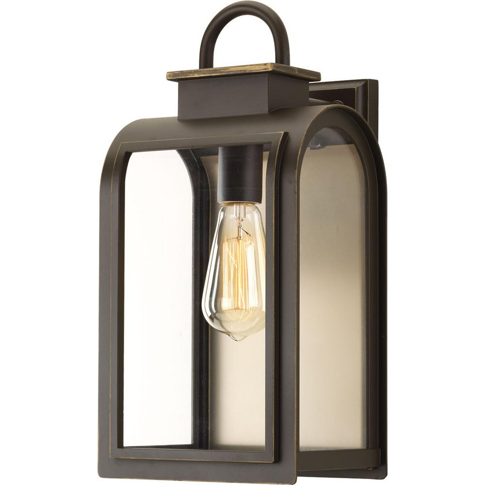 Jordy Oil Rubbed Bronze Outdoor Wall Lanterns Throughout Favorite Progress Lighting Refuge Collection 1 Light Oil Rubbed (View 1 of 20)