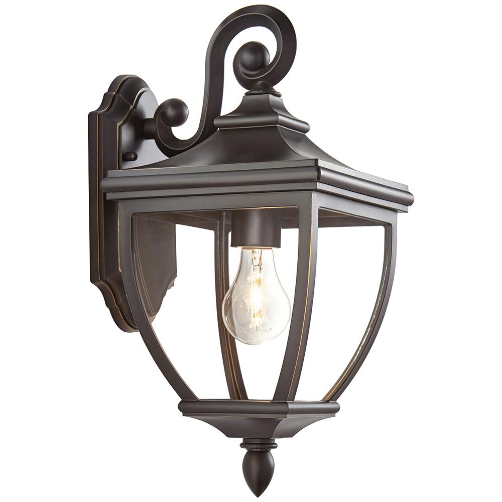 Jordy Oil Rubbed Bronze Outdoor Wall Lanterns With Recent Home Decorators Collection 1 Light Oil Rubbed Bronze (View 9 of 20)