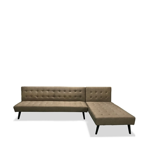 Jual Scarlett Sofa Bed 3s+chaise Brown – Icreate (View 3 of 20)