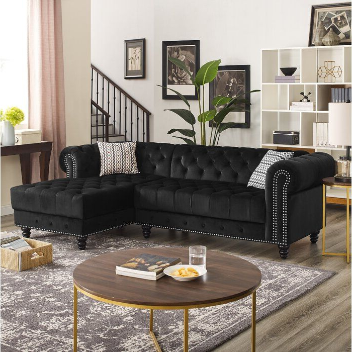 """Kiefer Right Facing Sectional Sofas Intended For Famous House Of Hampton Lora 97"""" Right Hand Facing Sectional (View 6 of 20)"""