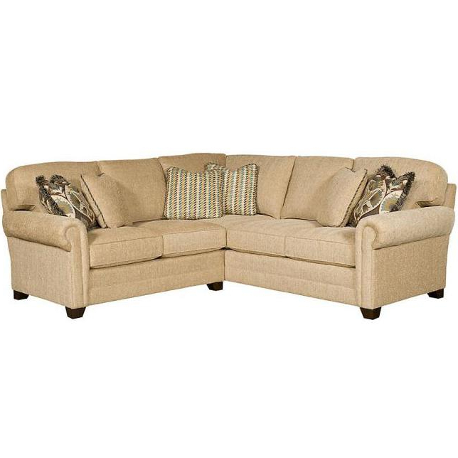 King Hickory Winston Transitional Sectional With Rolled With Regard To Preferred Winston Sofa Sectional Sofas (View 14 of 20)