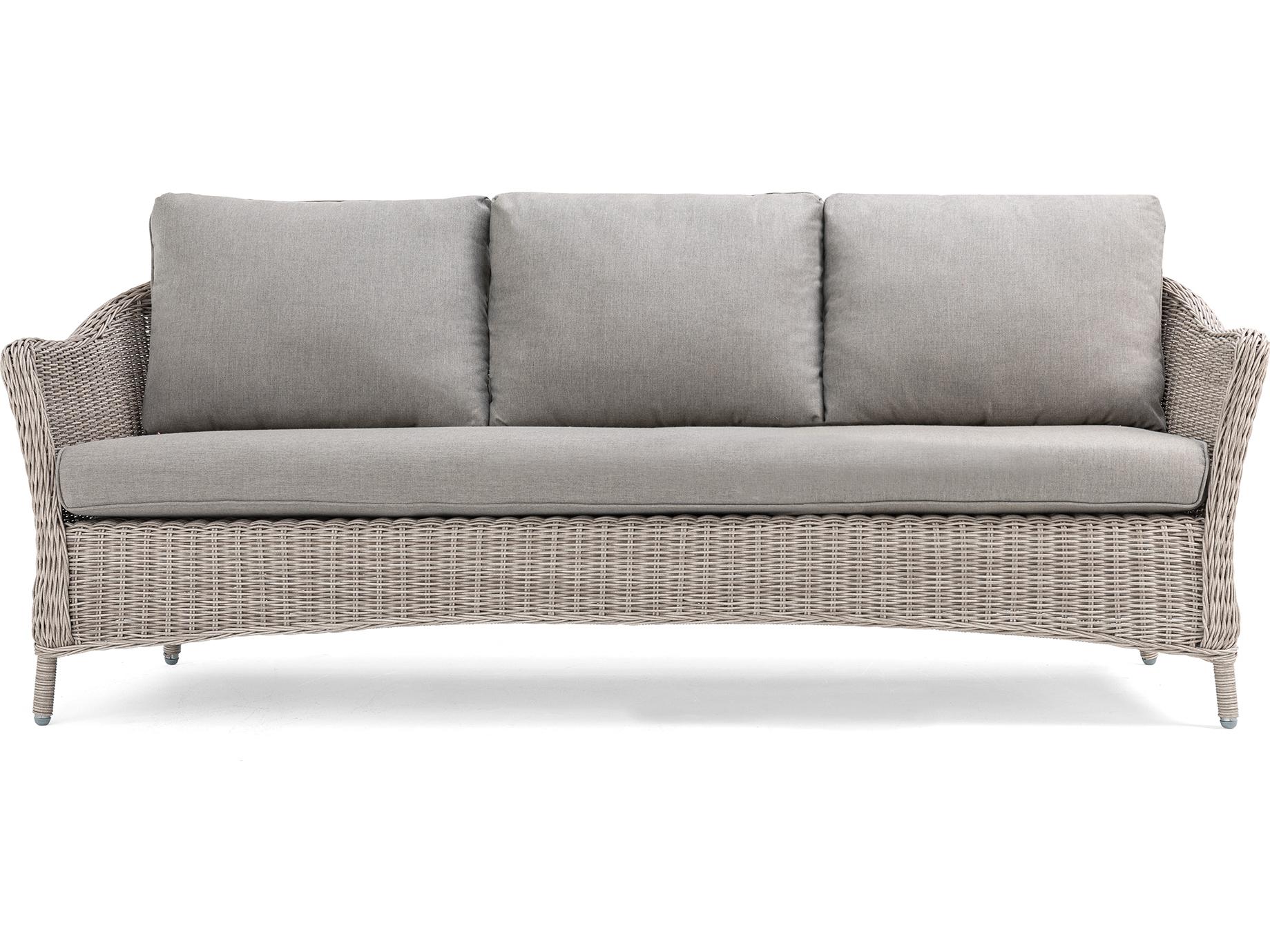 La Z Boy Quick Ship Laurel Cushion Gray Wicker Sofa In Regarding Newest Laurel Gray Sofas (View 2 of 20)