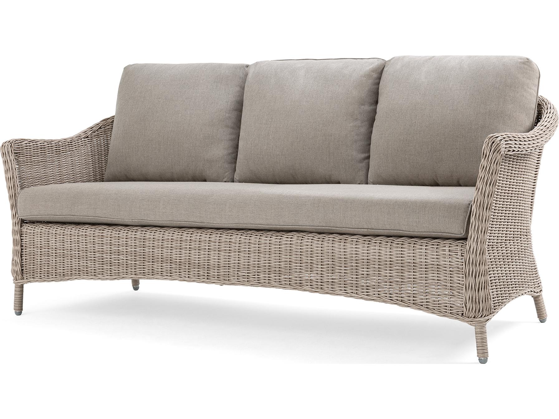 La Z Boy Quick Ship Laurel Cushion Gray Wicker Sofa In Within 2019 Laurel Gray Sofas (View 4 of 20)