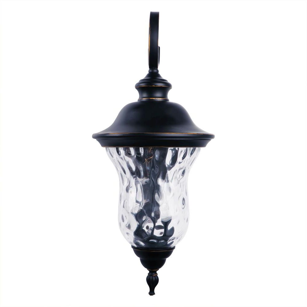 Large 3 Light Imperial Black Outdoor Wall Lantern Sconce With Newest Gillett Outdoor Wall Lanterns (View 20 of 20)